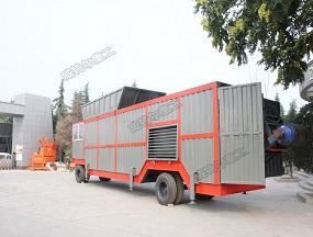 客户定制新型移动300型黄泥土拌合站