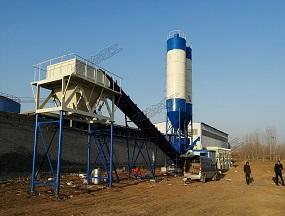 河南周口WBZ800T水稳站工地现场