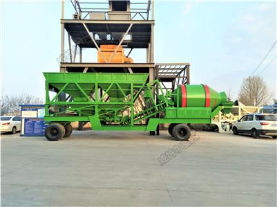移动滚筒混凝土搅拌站500-2000型